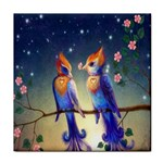 Peaceful And Love Birds Tile Coaster