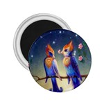 Peaceful And Love Birds 2.25  Magnet
