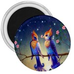 Peaceful And Love Birds 3  Magnet