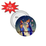 Peaceful And Love Birds 1.75  Button (10 pack)