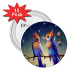 Peaceful And Love Birds 2.25  Button (10 pack)