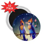 Peaceful And Love Birds 2.25  Magnet (10 pack)