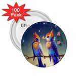 Peaceful And Love Birds 2.25  Button (100 pack)