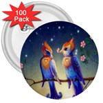 Peaceful And Love Birds 3  Button (100 pack)