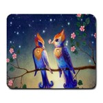 Peaceful And Love Birds Large Mousepad