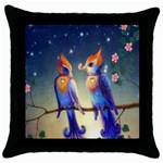 Peaceful And Love Birds Throw Pillow Case (Black)