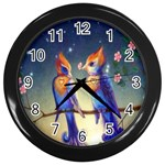 Peaceful And Love Birds Wall Clock (Black)