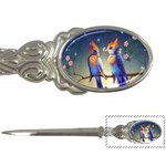 Peaceful And Love Birds Letter Opener