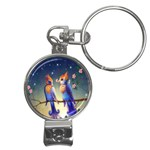 Peaceful And Love Birds Nail Clippers Key Chain