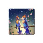 Peaceful And Love Birds Magnet (Square)
