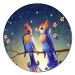 Peaceful And Love Birds Magnet 5  (Round)