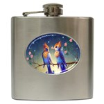 Peaceful And Love Birds Hip Flask (6 oz)