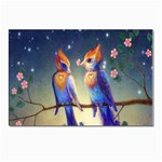 Peaceful And Love Birds Postcard 5  x 7