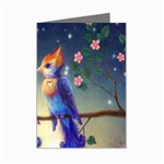Peaceful And Love Birds Mini Greeting Card