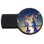 Peaceful And Love Birds USB Flash Drive Round (2 GB)
