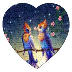 Peaceful And Love Birds Jigsaw Puzzle (Heart)
