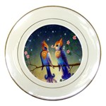 Peaceful And Love Birds Porcelain Plate