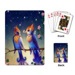 Peaceful And Love Birds Playing Cards Single Design