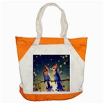 Peaceful And Love Birds Accent Tote Bag