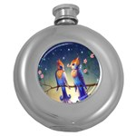 Peaceful And Love Birds Hip Flask (5 oz)