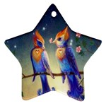 Peaceful And Love Birds Star Ornament (Two Sides)