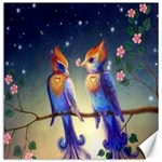 Peaceful And Love Birds Canvas 12  x 12