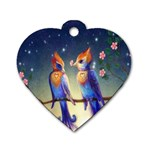 Peaceful And Love Birds Dog Tag Heart (One Side)