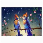Peaceful And Love Birds Glasses Cloth (Large, Two Sides)