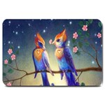 Peaceful And Love Birds Large Doormat