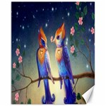Peaceful And Love Birds Canvas 11  x 14