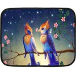 Peaceful And Love Birds Mini Fleece Blanket(Two Sides)