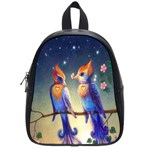 Peaceful And Love Birds School Bag (Small)