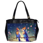 Peaceful And Love Birds Oversize Office Handbag (Two Sides)