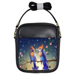 Peaceful And Love Birds Girls Sling Bag