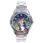 Peaceful And Love Birds Stainless Steel Analogue Men's Watch