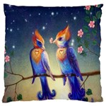 Peaceful And Love Birds Large Cushion Case (Two Sides)
