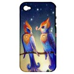 Peaceful And Love Birds Apple iPhone 4/4S Hardshell Case (PC+Silicone)