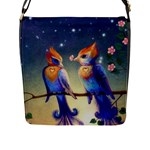 Peaceful And Love Birds Flap Closure Messenger Bag (Large)