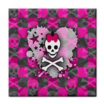 Princess Skull Heart Tile Coaster