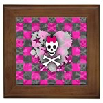 Princess Skull Heart Framed Tile