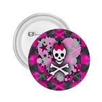 Princess Skull Heart 2.25  Button