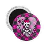 Princess Skull Heart 2.25  Magnet