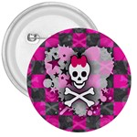 Princess Skull Heart 3  Button