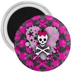 Princess Skull Heart 3  Magnet