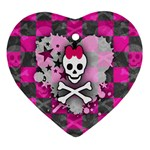 Princess Skull Heart Ornament (Heart)