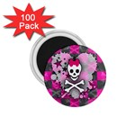Princess Skull Heart 1.75  Magnet (100 pack)
