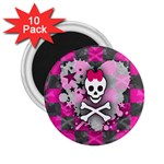 Princess Skull Heart 2.25  Magnet (10 pack)