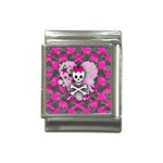 Princess Skull Heart Italian Charm (13mm)