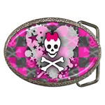 Princess Skull Heart Belt Buckle