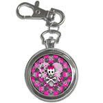 Princess Skull Heart Key Chain Watch
